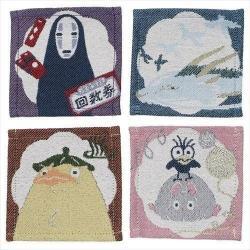 El viaje de Chihiro Pack de 4 Posavasos Characters - Imagen 1