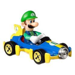 Mario Kart Vehículo Hot Wheels 1/64 Luigi (Mach 8) 8 cm - Imagen 1