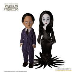 The Addams Family Living Dead Dolls Set de 2 Muñecos Gomez & Morticia 25 cm - Imagen 1