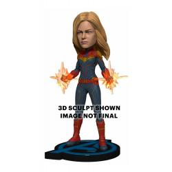 Vengadores: Endgame Cabezón Head Knocker Captain Marvel 20 cm - Imagen 1