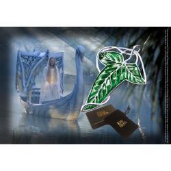 El Señor de los Anillos Broche Hoja Élfica (plateado) - Imagen 1