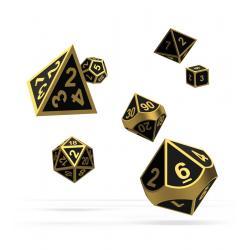 Oakie Doakie Dice Dados RPG-Set Metal Dice - Alchemy Gold (7) - Imagen 1