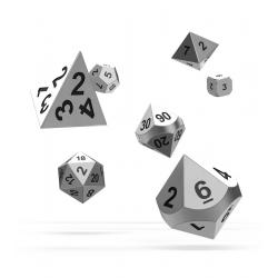 Oakie Doakie Dice Dados RPG-Set Metal Dice - Mercury (7) - Imagen 1
