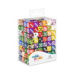 Oakie Doakie Dice Dados D6 12 mm Retail Pack Mixed (192) - Imagen 1