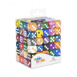 Oakie Doakie Dice Dados D6 16 mm Retail Pack Mixed (120) - Imagen 1
