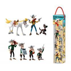 Lucky Luke Pack de 7 Minifiguras Characters 4 - 10 cm - Imagen 1