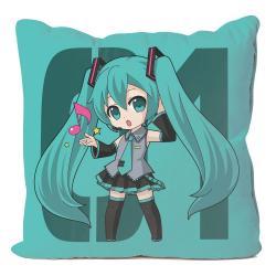 Vocaloid Funda de Almohada Hatsune Miku 50 x 50 cm - Imagen 1