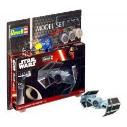 Star Wars Maqueta 1/121 Model Set Darth Vader's TIE Fighter 7 cm - Imagen 1
