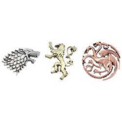 Juego de Tronos Set de 3 Pins Emblemas Casas - Imagen 1