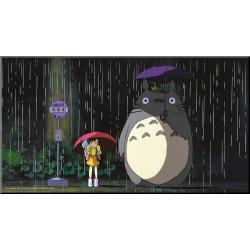 Mi vecino Totoro Póster de madera Bus Stop - Imagen 1