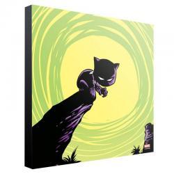 Marvel Póster de madera Black Panther by Skottie Young 30 x 30 cm - Imagen 1
