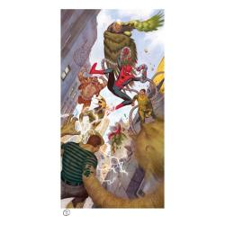 Marvel Litografia Spider-Man vs Sinister Six 43 x 74 cm - enmarcado - Imagen 1