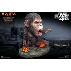 El origen del planeta de los simios Estatua Deform Real Series Soft Vinyl Caesar Chain Ver. Deluxe - Imagen 1