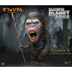 El amanecer del planeta de los simios Estatua Deform Real Series Soft Vinyl Caesar Warrior Face LTD - Imagen 1