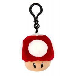 Mario Kart Llavero Peluche Mocchi-Mocchi Super Mushroom 10 cm - Imagen 1