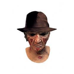 Pesadilla en Elm Street Máscara de látex Deluxe con sombrero Freddy Krueger - Imagen 1