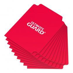Ultimate Guard Card Dividers Tarjetas Separadoras para Cartas Tamaño Estándar Rojo (10) - Imagen 1