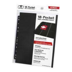 Ultimate Guard 18-Pocket Pages Side-Loading Negro (10) - Imagen 1