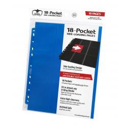 Ultimate Guard 18-Pocket Pages Side-Loading Azul (10) - Imagen 1
