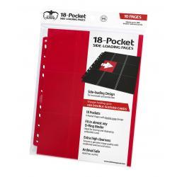 Ultimate Guard 18-Pocket Pages Side-Loading Rojo (10) - Imagen 1