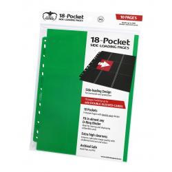 Ultimate Guard 18-Pocket Pages Side-Loading Verde (10) - Imagen 1