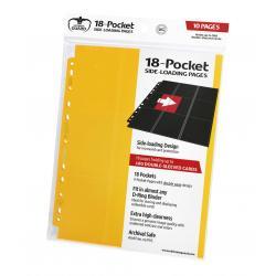 Ultimate Guard 18-Pocket Pages Side-Loading Amarillo (10) - Imagen 1