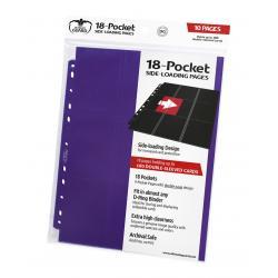 Ultimate Guard 18-Pocket Pages Side-Loading Violeta (10) - Imagen 1