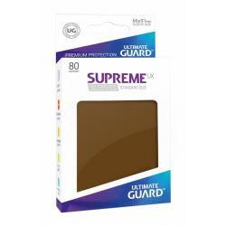 Ultimate Guard Supreme Sleeves Fundas de Cartas Tamaño Estándar Marrón (80) - Imagen 1