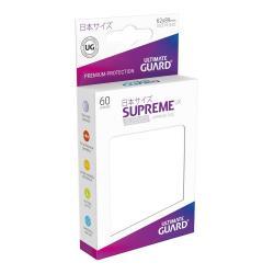 Ultimate Guard Supreme UX Sleeves Fundas de Cartas Tamaño Japonés Blanco (60) - Imagen 1