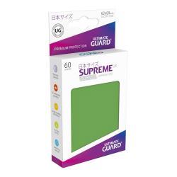 Ultimate Guard Supreme UX Sleeves Fundas de Cartas Tamaño Japonés Verde (60) - Imagen 1