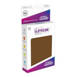 Ultimate Guard Supreme UX Sleeves Fundas de Cartas Tamaño Japonés Marrón (60) - Imagen 1