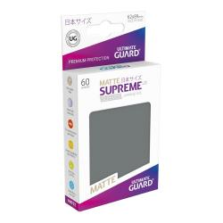 Ultimate Guard Supreme UX Sleeves Fundas de Cartas Tamaño Japonés Gris Oscuro Mate (60) - Imagen 1