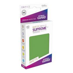 Ultimate Guard Supreme UX Sleeves Fundas de Cartas Tamaño Japonés Verde Mate (60) - Imagen 1