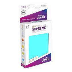 Ultimate Guard Supreme UX Sleeves Fundas de Cartas Tamaño Japonés Aguamarina Mate (60) - Imagen 1