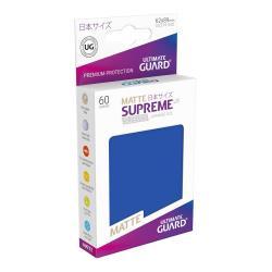 Ultimate Guard Supreme UX Sleeves Fundas de Cartas Tamaño Japonés Azul Mate (60) - Imagen 1