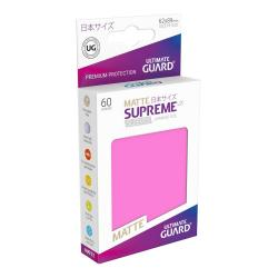 Ultimate Guard Supreme UX Sleeves Fundas de Cartas Tamaño Japonés Fucsia Mate (60) - Imagen 1