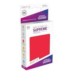 Ultimate Guard Supreme UX Sleeves Fundas de Cartas Tamaño Japonés Rojo Mate (60) - Imagen 1