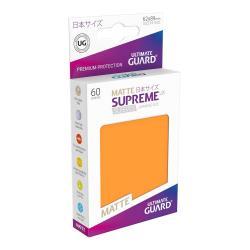 Ultimate Guard Supreme UX Sleeves Fundas de Cartas Tamaño Japonés Naranja Mate (60) - Imagen 1