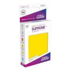 Ultimate Guard Supreme UX Sleeves Fundas de Cartas Tamaño Japonés Amarillo Mate (60) - Imagen 1