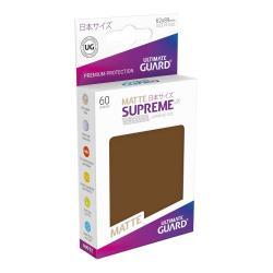 Ultimate Guard Supreme UX Sleeves Fundas de Cartas Tamaño Japonés Marrón Mate (60) - Imagen 1