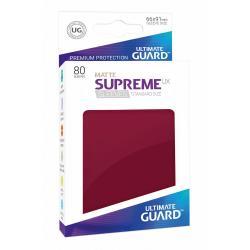 Ultimate Guard Supreme UX Sleeves Fundas de Cartas Tamaño Estándar Borgoña Mate (80) - Imagen 1