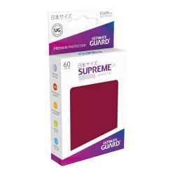 Ultimate Guard Supreme UX Sleeves Fundas de Cartas Tamaño Japonés Borgoña (60) - Imagen 1