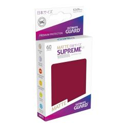Ultimate Guard Supreme UX Sleeves Fundas de Cartas Tamaño Japonés Borgoña Mate (60) - Imagen 1
