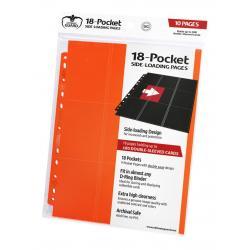 Ultimate Guard 18-Pocket Pages Side-Loading Naranja (10) - Imagen 1