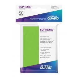 Ultimate Guard Supreme UX Sleeves Fundas de Cartas Tamaño Estándar Verde Claro (50) - Imagen 1