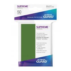 Ultimate Guard Supreme UX Sleeves Fundas de Cartas Tamaño Estándar Verde (50) - Imagen 1