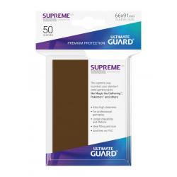 Ultimate Guard Supreme Sleeves Fundas de Cartas Tamaño Estándar Marrón (50) - Imagen 1