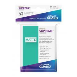 Ultimate Guard Supreme UX Sleeves Fundas de Cartas Tamaño Estándar Turquesa Mate (50) - Imagen 1