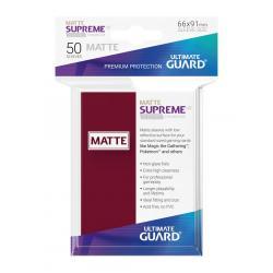 Ultimate Guard Supreme UX Sleeves Fundas de Cartas Tamaño Estándar Borgoña Mate (50) - Imagen 1