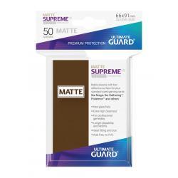 Ultimate Guard Supreme UX Sleeves Fundas de Cartas Tamaño Estándar Marrón Mate (50) - Imagen 1